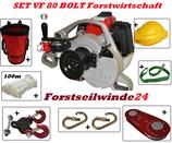 SET Forstseilwinde DOCMA VF80 Bolt / Benzin / Seilwinde / Spillwinde