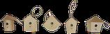 Deko-Vogelhäuschen klein