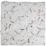 Handgeschöpftes Baumwollpapier mit Blüten