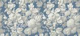 """Reispapier """"Blumen-Ornamente weiß-blau I"""""""