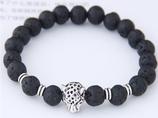 Armband Black Marble mit Leopard