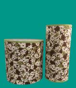 Lampe à poser ou abat-jour. Tissu fleuri en voile de coton pour une ambiance vintage. Différentes tailles.