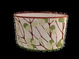 Abat - jour ovale d'une hauteur de 25 cms. Ovale de 41cms sur 27 cms de largeur. Tissu Marimekko.