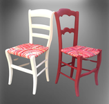Chaise paill'e en torons de tissus - Collection Bougainvilliers - Une création de La Mue