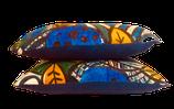 Coussin Tissu d'éditeur (Tomiko bleu) Lalie Design et chanvre ancien teint