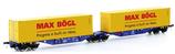 Max Bögl Containerwagen mit 2 Containern Mehano 58958