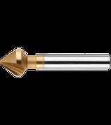 6.3 - 10.4mm HSS-E Verzinkfrees 90º, TiN  3 Snijkanten