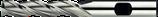 3 - 8mm HSS-E Schachtfrees 3-Snijder Lang