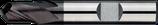 6 - 10mm PM-HSS Radiusfrees, 2-Snijder TiAIN
