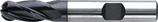 12 - 25mm HSS-E Radiusfrees, 4-Snijder TiAIN