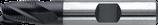 10 - 12mm HSS-E: Ruwfrees Kort TiAIN, Fijn