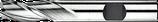 2 - 6mm HSS-E Schachtfrees 3-Snijder