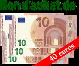 Bon d'achat de 40 euros
