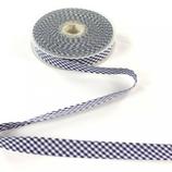Schrägband, Vichy, Karo, Marine, Blau, 2cm