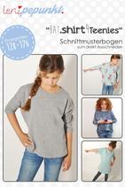BAT.shirt4TEENIES Papierschnittmuster Leni Pepunkt Shirt Fledermausärmel Größe 128 - 176