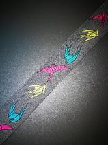 HerrSchneider Origami Vogel Grau Bunt Webband
