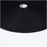 Gurtband, 2,5cm, 2 Meter, schwarz