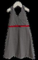 Neckholder Kleidchen Schwarz Weiß