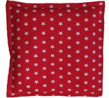 Kirschkernkissen Rot Weiß Sternenmuster