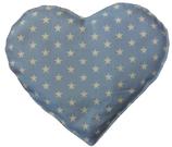 Kirschkernkissen Hellblau Weiß Sternenmuster