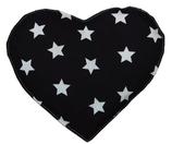 Kirschkernkissen Schwarz Weiß Sternenmuster