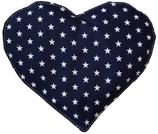 Kirschkernkissen Blau Weiß Sternenmuster