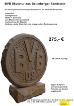 BVB Skulptur aus Baumberger Sandstein