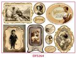 Decoupage Reispapier / #DFS 264