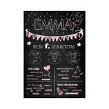 """Meilensteintafel """"Mein 1. Geburtstag"""" Emma (Print)"""