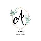 """Geburtsanzeige  """"Anton"""""""
