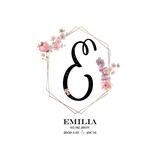 """Geburtsanzeige """"Emilia"""""""