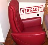 """VERKAUFT: Relax-Sessel von HUKLA mit verstellbarer Rückenlehne und Fußstütze!! Farbe: """"rosso"""""""
