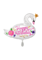 Happy Birthday Swan 73cm