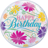 Bubble Birthday Flowers Filigree 55cm
