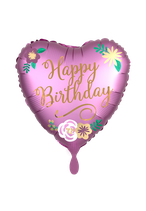 Birthday Satin Herz 45cm