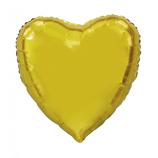Folienballon Herz - XXL ca. 90 cm Ø - freie Farbwahl - glänzend - unbefüllt - verpackt