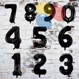 """Ballonzahl - befüllt mit Helium - beschwert mit einem Ballongewicht - """" Zahl Schwarz""""- ca. 100 cm hoch"""
