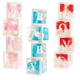 4er Set quadratische Ballon-Boxen - Baby Shower - zur Geburt - Valentingstag- Dekoration