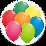 Luftballons ca. 23 cm Durchmesser in vielen Farben