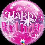 "Helium-befüllter Ballon ""Happy Birthday"" pink"