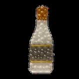 Mosaik-Rahmen für Ballondekoration - Sekt-Flasche- Champagner  - ca. 120cm hoch