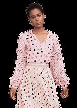 Bedruckte Bluse mit Plisseeärmel von RIANI