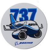 Boeing 737 Pudgy Sticker