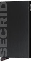Secrid Cardprotector Laser Logo Brushed Black