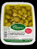Olive Verdi Schiacciate CAMPAGNOLE