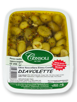 Olive Verdi Schiacciate DIAVOLETTE