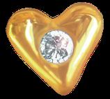 Coeur et Zircon Or Jaune 22 Carats