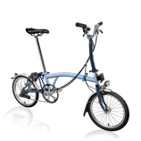 Brompton M6-LD  in CloudBlue / TempestBlue  MY21 Collection