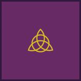 Tapis de jeu violet Triquetra