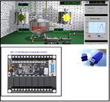 PLC 12 entradas 8 salidas + LLave USB Licencia +  Maquina Virtual+Curso SCADA